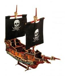 Bateau Pirate puzzle 3D