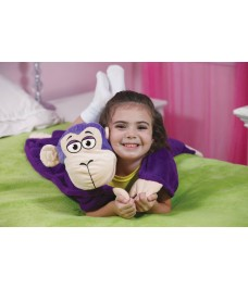 Peluche couverture Singe violet