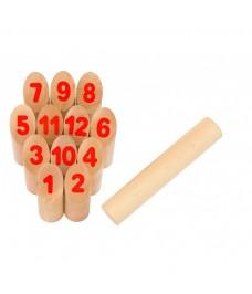 Mölkky jeu de Kubb avec chiffres