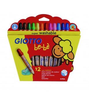 Etui de 12 crayons de couleur Maxi Giotto Bébé
