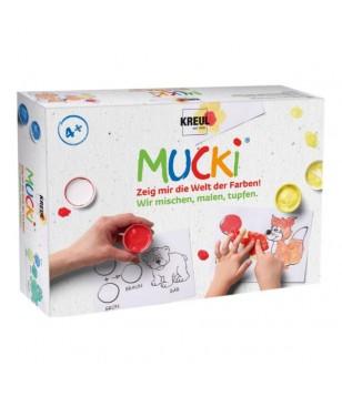 Kit de Gouache aux doigts MUCKI 5x50 ml
