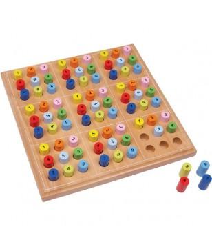 Sudoku coloré en bois