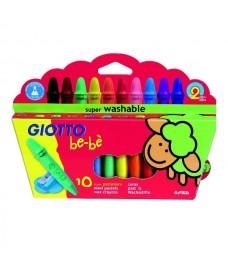 Etui de 10 crayons cire Giotto Bébé