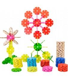 Jeu d'assemblage 240 Fleurs colorées