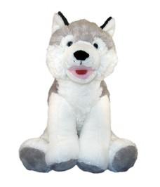 Peluche Husky enregistrable 40 cm