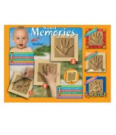 Empreinte de la main avec cadre en bois