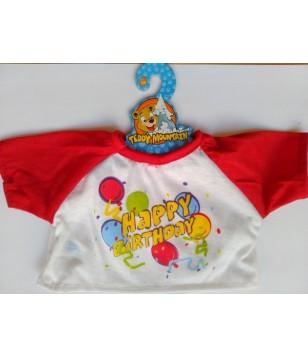 Tee-shirt Happy Birthday Ballons 40 cm
