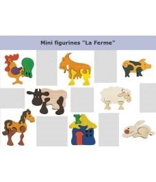 """Lot de mini puzzle """"La Ferme"""""""
