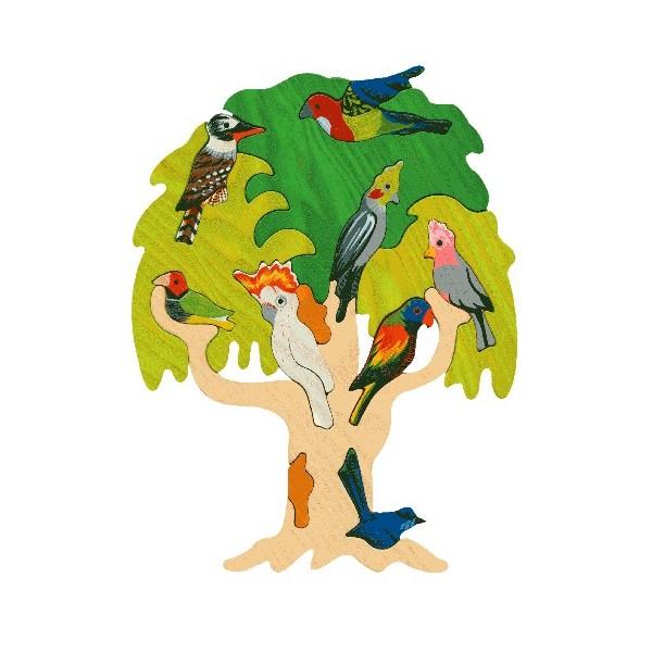puzzle oiseaux arbre australie en bois produit co con u en vente chez marie bambelle. Black Bedroom Furniture Sets. Home Design Ideas