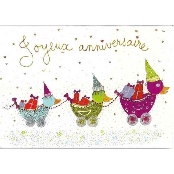 Souvent Joyeux anniversaire - Canards - Marie-Bambelle VC52