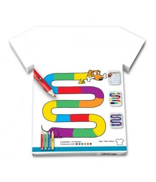 Tee-shirt à colorier - Teckel multicolore