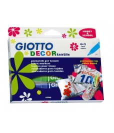 Feutres textile x6 Giotto