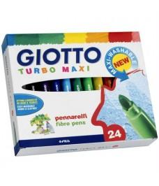 Etui 24 feutres Turbo Maxi Giotto